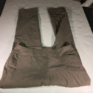 CHICOS So Slimming Pants Size 1.5 Womens Brown